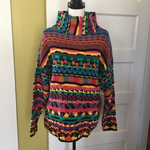 vintage 80's Leoniak Sweater High Cowl Turtleneck